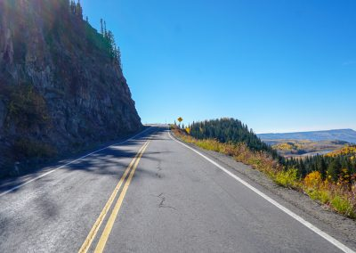 The climb up Grand Mesa is substantial but never too steep
