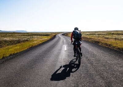 The open remote roads of northern Iceland